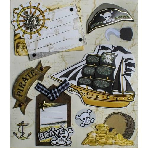 Adesivo 3d Piratas Ad1583 - Toke e Crie