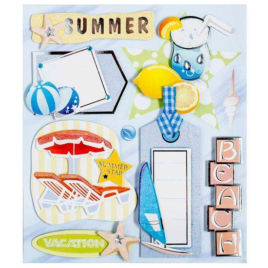 Adesivo 3d Praia Verão Ad1674 - Toke e Crie