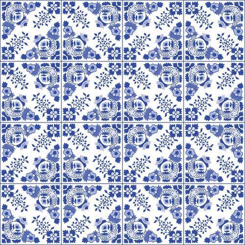 Adesivo de Azulejo Azul Alva 20x20 Cm com 12un