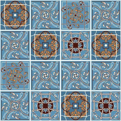 Adesivo de Azulejo Azul Vitoriano 15x15 Cm 18un