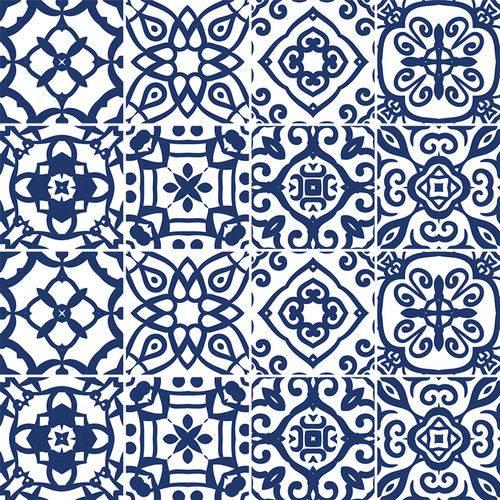 Adesivo de Azulejo - Ladrilho Hidráulico - 340Azme