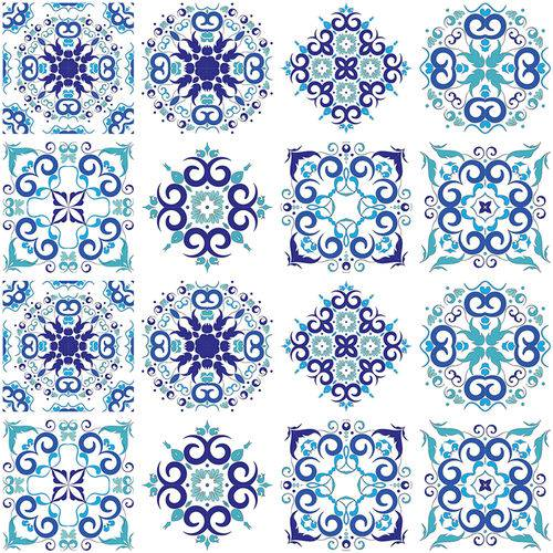 Adesivo de Azulejo - Ladrilho Hidráulico - 348Azge