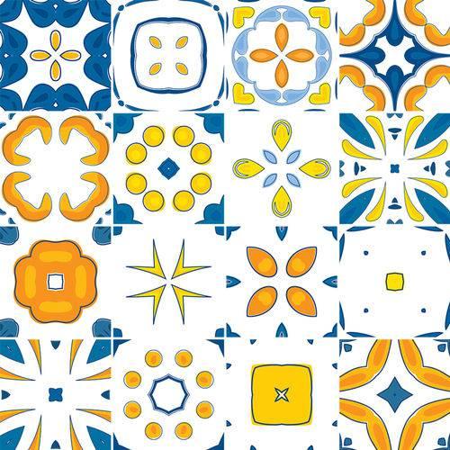 Adesivo de Azulejo - Ladrilho Hidráulico - 374Azme