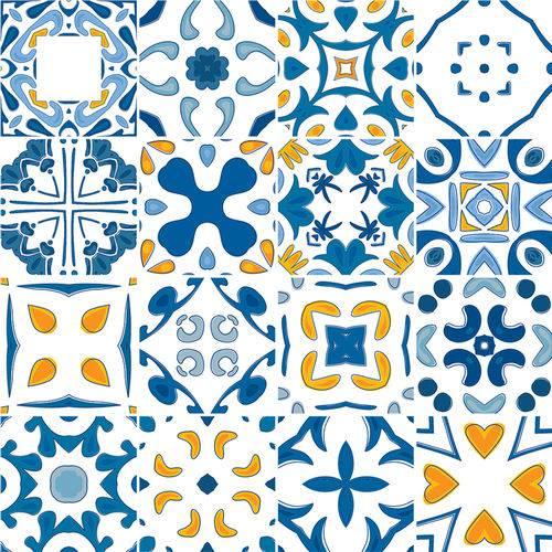 Adesivo de Azulejo - Ladrilho Hidráulico - 376Azme