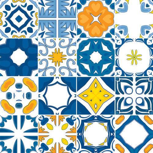 Adesivo de Azulejo - Ladrilho Hidráulico - N1372