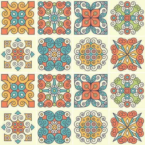 Adesivo de Azulejo - Ladrilho Hidráulico - N3363
