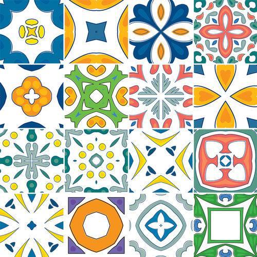 Adesivo de Azulejo - Ladrilho Hidráulico - N3383
