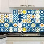 Adesivo de Azulejo - Ladrilho Hidráulico - X014Azpe