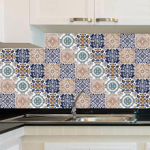 Adesivo de Azulejo - Ladrilho Hidráulico - X046Azme