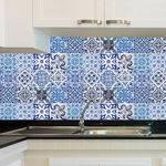 Adesivo de Azulejo - Ladrilho Hidráulico - X049Azpe