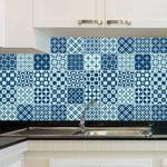 Adesivo de Azulejo - Ladrilho Hidráulico - X072Azpe
