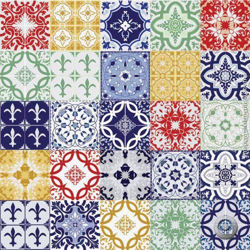 Adesivo de Azulejo Mix Cores 15x15