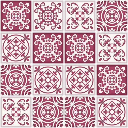 Adesivo de Azulejo Santa Maria 15x15 Cm com 36 Un