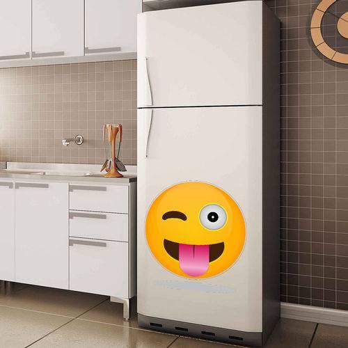 Adesivo de Geladeira Emoji com Língua