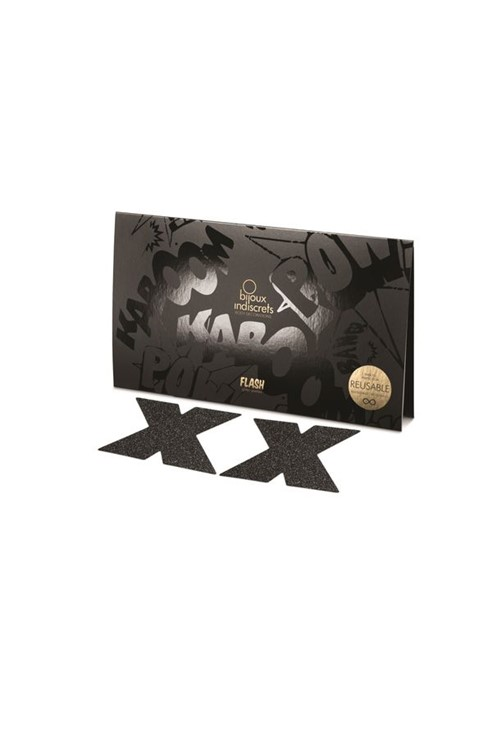Adesivo de Mamilo Cross Fetiche Noir - Bijoux Indiscrets - Tam. U