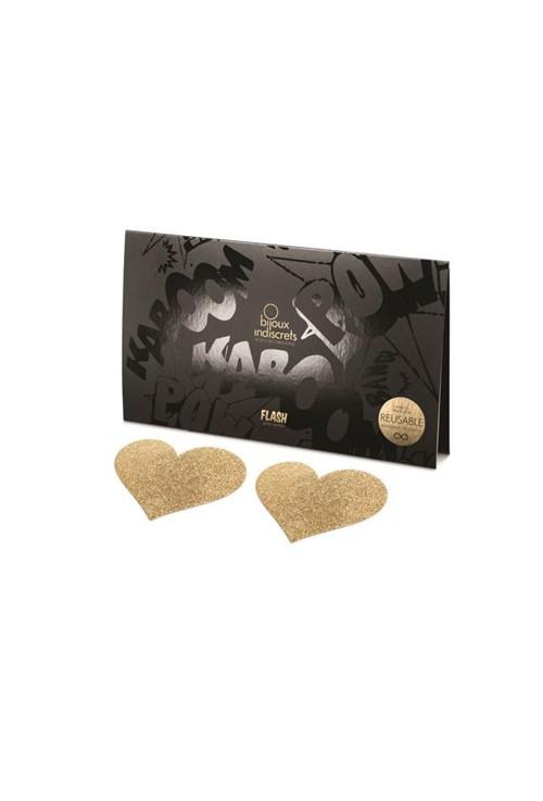 Adesivo de Mamilo Heart Fetiche Noir - Bijoux Indiscrets - Tam. U
