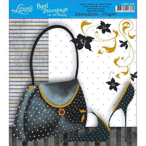 Adesivo de Papel para Decoupage com Hot Stamping Litoarte 20 X 20 Cm - Modelo D20h-008 Feminino