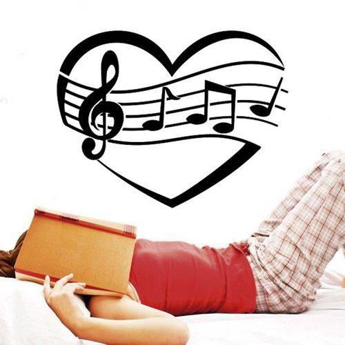 Adesivo de Parede Amo Música