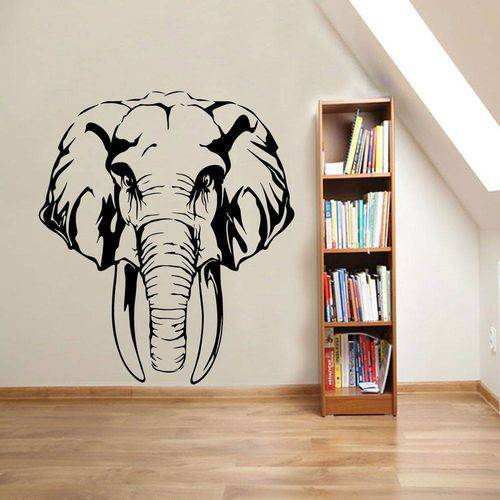 Adesivo de Parede Animais Cabeça de Elefante