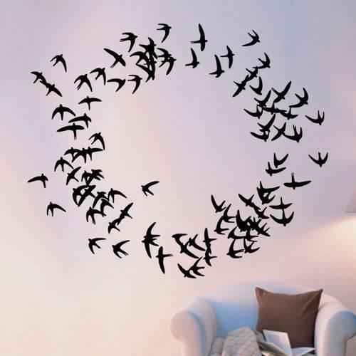 Adesivo de Parede Animais Pássaros