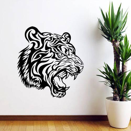 Adesivo de Parede Animais Tigre Rugindo