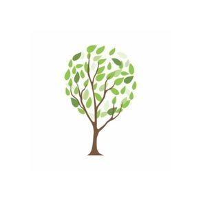 Adesivo de Parede Árvore para Sala Ventinho no Rosto - 1,20 X 0,80 AF18001