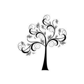 Adesivo de Parede Árvore Sala Delicada - 1,45 X 1,26 AF18017