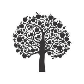 Adesivo de Parede Árvore Sala Macieira Quero Mais - 1,20 X 1,20 AF18013
