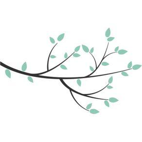 Adesivo de Parede Árvore Sala Meu Cantinho de Paz - 0,74 X 1,20 AF18023
