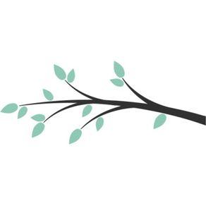 Adesivo de Parede Árvore Sala Meu Cantinho Harmônico - 0,60 X 1,45 AF18027