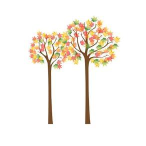 Adesivo de Parede Árvore Sala Outono Colorido - 1,20 X 1,02 AF18039