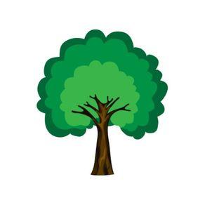 Adesivo de Parede Árvore Sala Rechonchudinha - 1,45 X 1,30 AF18015