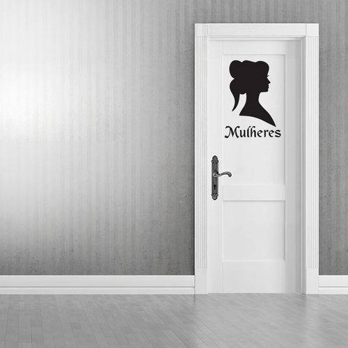 Adesivo de Parede Banheiro Toilet Mulheres