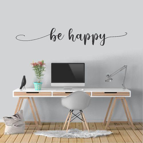 Adesivo de Parede - Be Happy - Ade065