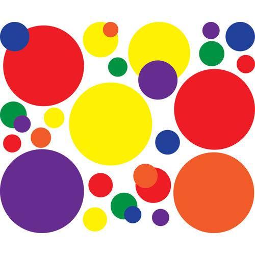 Adesivo de Parede Bolas Coloridas 38un