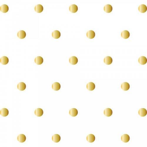 Adesivo de Parede Bolinhas Douradas