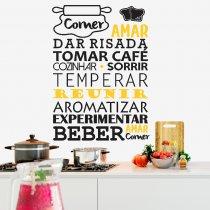 Adesivo de Parede - Comer, Amar ....