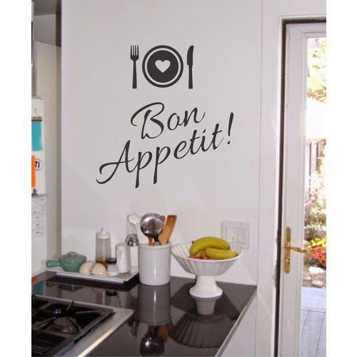 Adesivo de Parede Cozinha Bon Appetit Bon Apetite