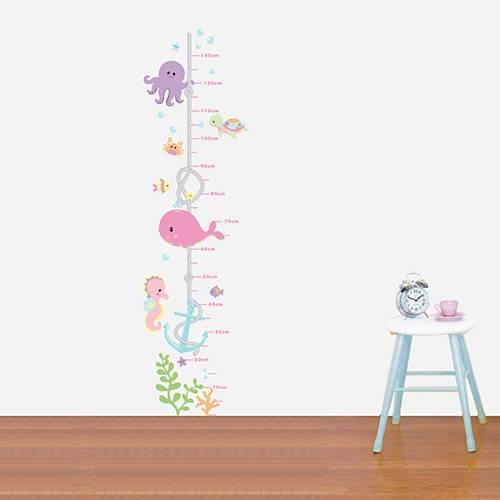 Adesivo de Parede Decorativo Infantil Stixx Reguinha Fundo do Mar Menina Colorido (38x140x1cm)