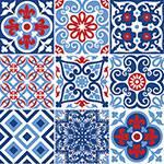 Adesivo de Parede Decorativo para Cozinha Stixx Azulejos Biarritz Colorido (123x61cm)