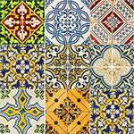 Adesivo de Parede Decorativo para Cozinha Stixx Azulejos Vintage Colorido (123x61cm)