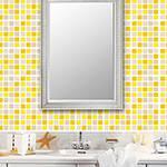 Adesivo de Parede Decorativo para Revestimento Stixx Pastilhas Sunset Tons Amarelo (123x61cm)
