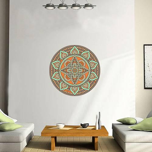 Adesivo de Parede Decorativo Stixx Mandala Boho Colorido (60x60cm)