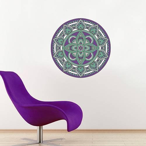 Adesivo de Parede Decorativo Stixx Mandala Coachella Colorido (60x60cm)