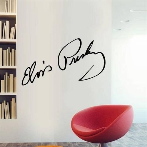 Adesivo de Parede Elvis Presley Assinatura