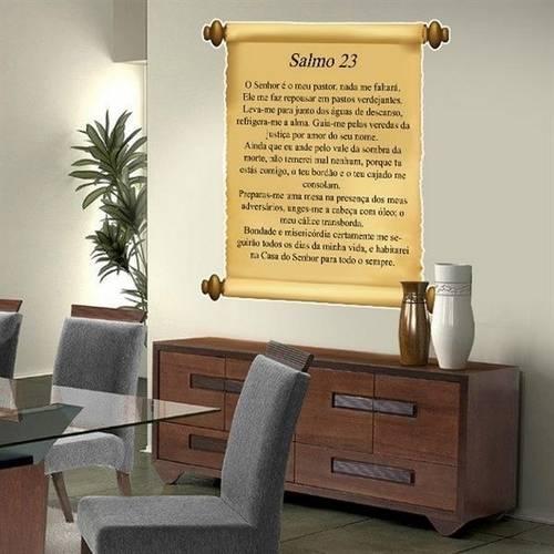 Adesivo de Parede Frase Salmos 23