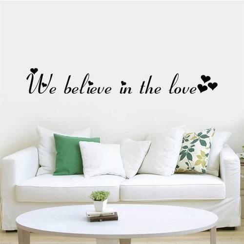 Adesivo de Parede Frase We Believe