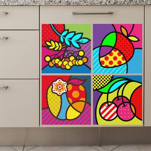 Adesivo de Parede - Frutas Pop Art - 202dv