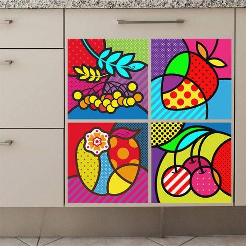 Adesivo de Parede - Frutas Pop Art - N9202