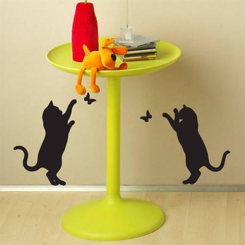 Adesivo de Parede - Gatos e Borboletas - N3013